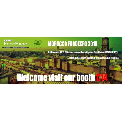 Orgse Tea Exhibits in Morocco Food Expo Dec. 6-8, 2019